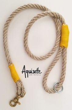 Guinzaglio per cani in canapa Hemp dog leash di Aquisette su Etsy