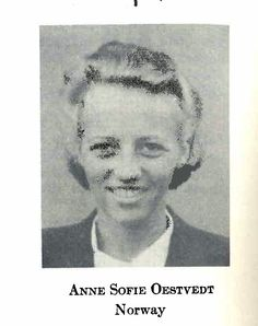 Incredibly brave Anne Sophie Oestvedt was one of the two women of the four leaders of WWII Norwegian resistance. Going deep undercover to lead thousands of fighters, she even stood next to her father on a tram and never let him know. Hunted by the Gestapo, she evaded capture the entire war. Although her mental & physical health suffered, she finished college in the US post WWII and returned to Norway with her husband, the XU leader Oistein Stromnes (km).