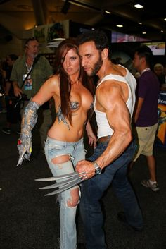 The Best Cosplay Day Two Of Comic-Con 2013, Witchblade and Wolverine