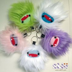 Mini #Yeti Plush Keychain by ShliiKawaii on Etsy, $10.00 #handmade #kawaii