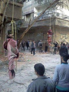 Happening in Syria - men hung are martyrs for their Christian faith. They were given a choice: convert to Islam or die. The people doing this are rebels supported by BHO and your taxes. We Are The World, In This World, Non Plus Ultra, Sharia Law, Christian Faith, Christianity, Politics, Shit Happens, History