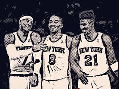 My three favorite men in basketball right here; Anthony, Smith, and Shumpert <3