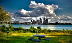 Louisville Skyline from a little park in Indiana where I like to go for lunch. It makes me feel like I'm on vacation.