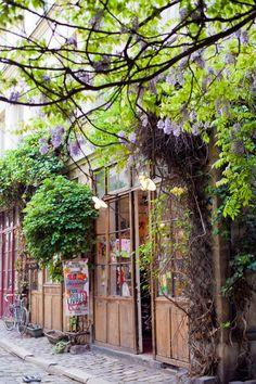 extérieur : passage Lhomme, Paris, ateliers d'artistes et artisans