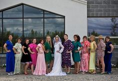 Find the worst bridesmaids dress you can find and wear to the bachelorette party. @Jenni Lynn @Kania Sonnek this is cute