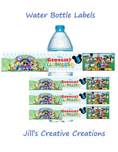 Mickey Mouse Clubhouse Water Bottle Labels