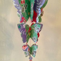 3D Paper Butterfly Garland on Etsy, £7.50