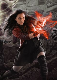 Elizabeth Olsen as Scarlet Witch  Avengers: Age Of Ultron (2015)