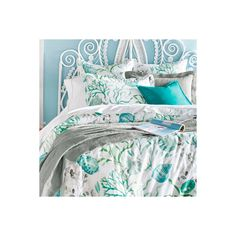 Grandin Road Cayman Duvet Cover - Twin ($99) ❤ liked on Polyvore featuring home, bed & bath, bedding, duvet covers, patterned bedding, seaside bedding, queen bedding, queen bed linens and grandin road