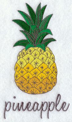 Delicious Pineapple design (G8466) from www.Emblibrary.com