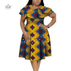 New Bazin Riche African Ruffles Collar Dresses for Women Dashiki Print Pearls Dresses Vestidos Women African Clothing - AliExpress African Dresses Plus Size, Short African Dresses, Latest African Fashion Dresses, African Print Dresses, African Print Fashion, Best African Dress Designs, Ankara Fashion, Africa Fashion, African Prints