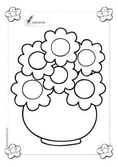 Bee coloring pages for preschool, kindergarten and elementary school children to print and color. Mini Drawings, Art Drawings For Kids, Colorful Drawings, Printable Flower Coloring Pages, Bee Coloring Pages, Stencil Patterns, Mosaic Patterns, Planet Crafts, Paper Flowers Diy