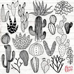 Cactus Clipart – Hand Drawn Cactus Clipart – Vector Cactus Art – Cactus Digital Paper – Cactus Clip Art – Cactus Illustration – Cactus Clipart Dibujado a mano Cactus Clipart Vector Cactus Art Hand Illustration, Kaktus Illustration, Doodle Art, Doodle Drawings, Doodle Frames, Clip Art, Cactus Clipart, Cactus Vector, Cactus Art