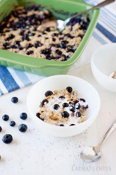 Healthy Breakfast: Blueberry Baked Oatmeal