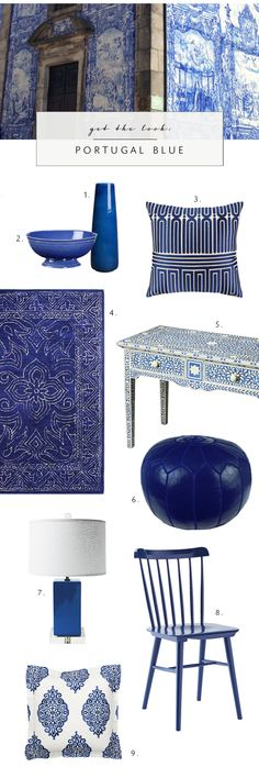 DECORATING WITH PORTUGAL-INSPIRED BLUE AZULEJO - coco kelley coco kelley
