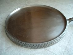 Chicago Hardware Foundry Hammered Chrome Plated Cast Iron Griddle 999 CLEAN! (05/07/2013)
