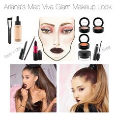 """""""Bad Girl Glam!"""" by jacque-luna ❤ liked on Polyvore featuring beauty, MAC Cosmetics, makeup, CelebrityStyle and arianagrandestyle"""