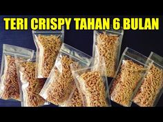 Ide Jualan Teri Crispy Kriuk Tahan 6 Bulan - YouTube Snack Recipes, Cooking Recipes, Healthy Recipes, Snacks, Indonesian Cuisine, Street Food, Meal Prep, Food And Drink, Tasty