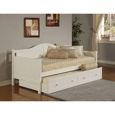 Shop for Hillsdale Furniture Staci White Daybed. Get free shipping at Overstock.com - Your Online Furniture Outlet Store! Get 5% in rewards with Club O!