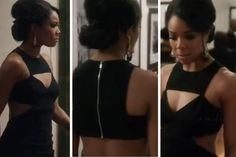 Gabrielle Union wearing a Spring 2013 Michael Kors black cut out dress during the #BMJFinale (#BeingMaryJane #fashion)
