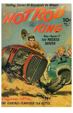 New Hot Rod Poster 11x17 Hot Rod King Comic Book reproduction drag race