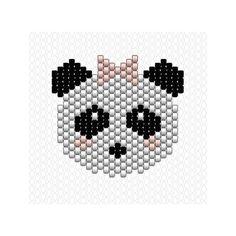 Pas de Panda Boy sans une Panda Girl  #Miyuki #perlesmiyuki #miyukidelica #miyukibeads #brickstitch #diy #handmade #panda #girl #noeud #jenfiledesperlesetjassume #jenfiledesperlesetjaimeca #motifcharlottesouchet Charlotte Souchet ©