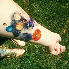 galaxy tattoo on hand