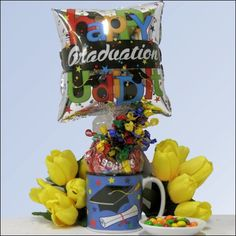 Send the new graduate this thoughtful gift pack that includes a graduation filled with hard candies, and a pre-inflated balloon. Quantities are limited so don't delay - show you are thinking of them with this wonderful graduation gift. Party Gifts, Diy Gifts, Graduation Gifts, Graduation Ideas, Cute Presents, Diy Gift Baskets, Chocolate Gifts, Hard Candy, Thoughtful Gifts