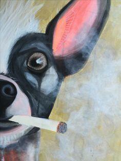 Dog pop art by: Henriette Hyldgaard
