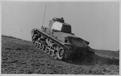 Romanian Army tank undertaking maneuvers during World War Two, Romania, circa 1939-1945. Pin by Paolo Marzioli