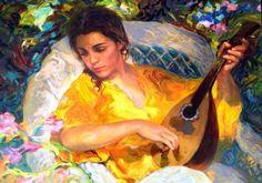 La Mandolina 1996 by  Royo