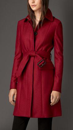 Manteau militaire en laine vierge compacte | Burberry