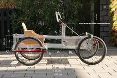 Right side of  self made four wheel bicycle
