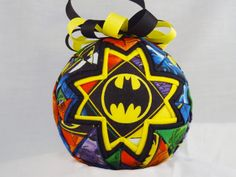 BATMAN IS BACK!  Fabric is back in production.  Not sure how long it will be available so order your Batman Ornament today!  (if it's sold out, send me a custom order request and I'll gladly make you one).