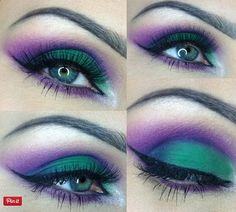 20 Mysterious Purple Smokey Makeup Tutorials 10