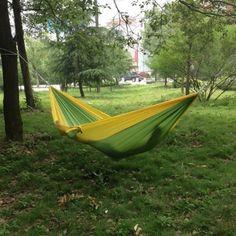Enjoydeal Portable Parachute Nylon Fabric Travel Camping Hammock For Double Two Person (Green& Yellow) Enjoydeal http://www.amazon.com/dp/B00G3ZURSG/ref=cm_sw_r_pi_dp_D3f1vb0PWYG76