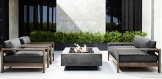Patio Seating Marbella Collection Weathered Grey Teak Outdoor Furniture Cg Restoration