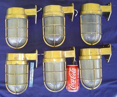 This is a great 6 piece set of authentic nautical wall mounted passageway lights. We are in the marine salvage business and we stock 1000's of brass lights.