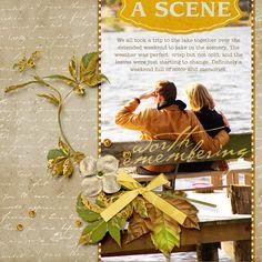 Golden Topaz Collection Super Mini Digital Scrapbooking Kit by Amanda Fraijo-Tobin | ScrapGirls.com