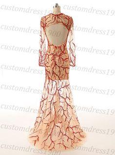 Long sleeve prom dresshandmade sequins tulle by customdress1900