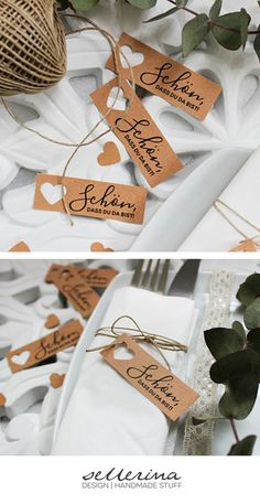 Table cards for wedding-name cards (natural paper, vintage, boho, place cards) - birthday ideas 10 pcs. Table cards for wedding-name cards (natural paper vintage boho place cards) The small cards in a pack of 10 go p. Diy Wedding Programs, Wedding Name Cards, Wedding Table Names, Diy Place Cards, Diy Cards, Paper Cards, Match Parfait, Papel Vintage, Christmas Coloring Pages