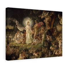 The Quarrel of Oberon and Titania, 1849 by Sir Joseph Noel Paton Canvas