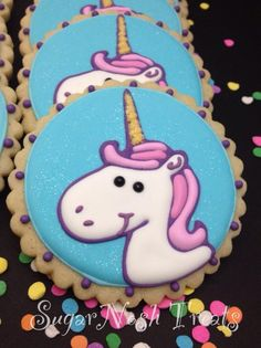 It's almost a shame to eat them..  SugarNoshTreats unicorn cookies