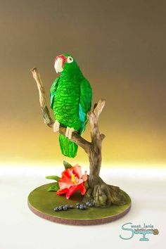 Puerto Rican Parrot - Bakers Unite to fight Collaboration - Cake by Sweet Janis - CakesDecor