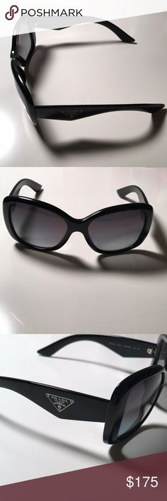 Prada Sunglasses! Black, Prada polarized sunglasses. Serial and style number pictured. Authentic! No scratches on the lenses or defects - in excellent condition! Prada Accessories Sunglasses