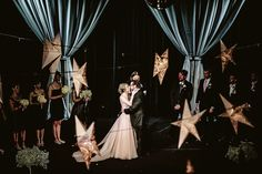 Simple yet Dramatic Wedding Decor