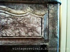 Use TIN FOIL to update an old piece of furniture!  Full Tutorial