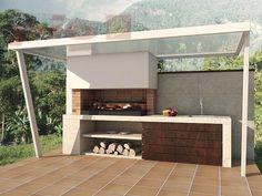 """Outstanding """"outdoor kitchen designs layout patio"""" information is readily available on our site. Read more and you wont be sorry you did. Modern Outdoor Kitchen, Outdoor Kitchen Bars, Backyard Kitchen, Summer Kitchen, Outdoor Living, Outdoor Decor, Outdoor Ideas, Bbq Outdoor Area, Outdoor Barbeque"""