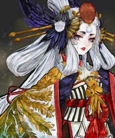 Yōkai are a class of supernatural monsters, legendary creatures from Japan. Japanese Folklore, Japanese Art, Female Character Design, Character Art, Character Illustration, Illustration Art, Manga Characters, Fantastic Art, Anime Comics