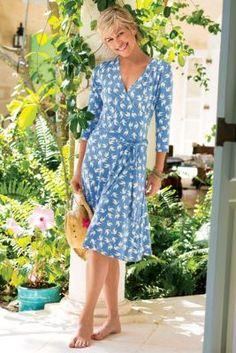 Paradise Dress - Surplice Dress, Faux Wrap Dress | Soft Surroundings